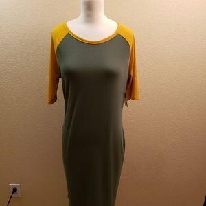 LuLaRoe Julia dress size L